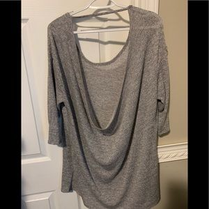 3/4 Sleeve draped back top